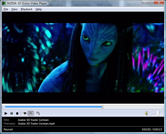 True stereoscopic 3d trailer of avatar is available on youtube 3d