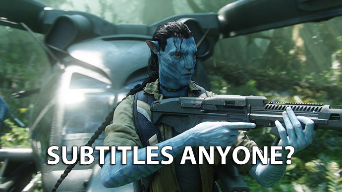 Though, because avatars subtitles other stuff to  - 10 June
