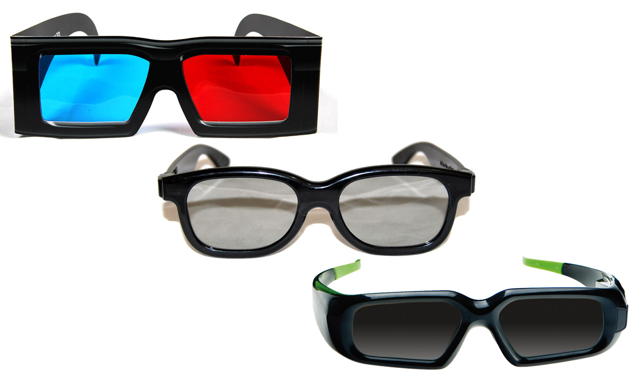 Anaglyph, Shutter, Polarized Glasses or Autostereoscopic ...