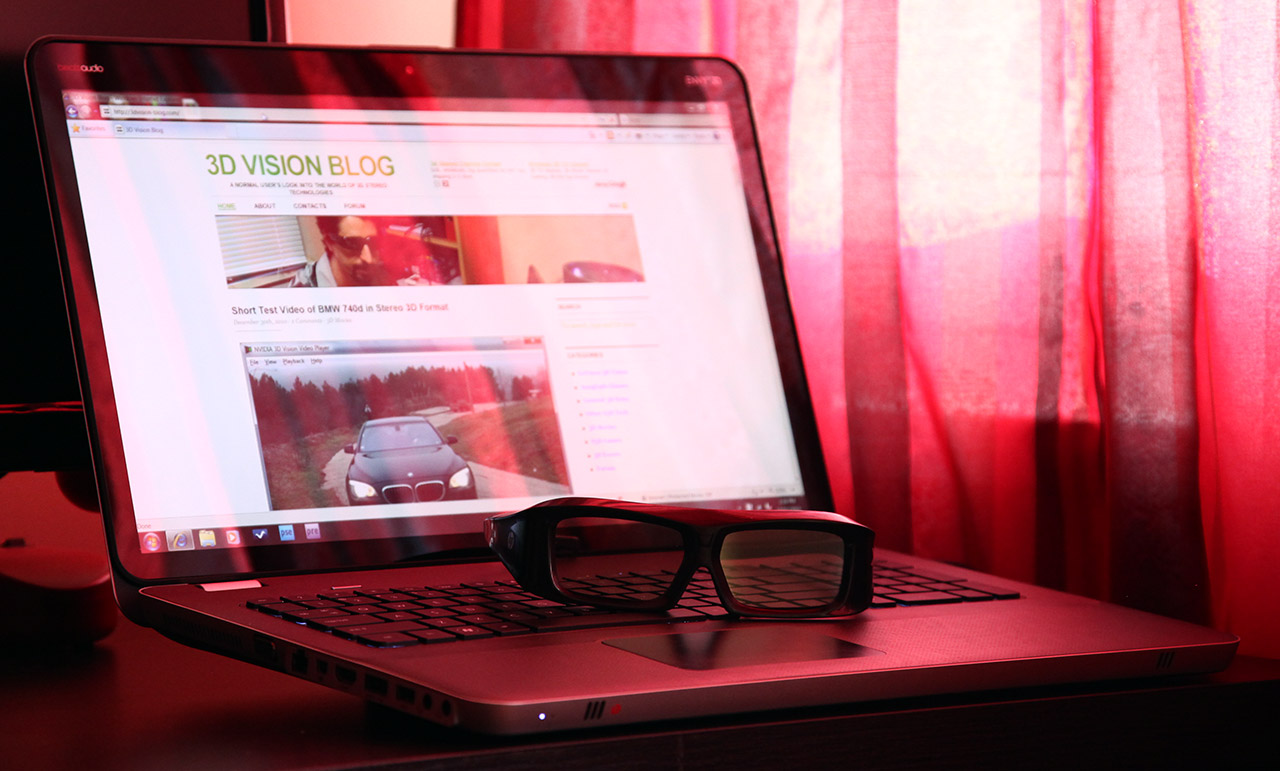 Review of the HP Envy 17 3D Laptop for Stereoscopic 3D Use