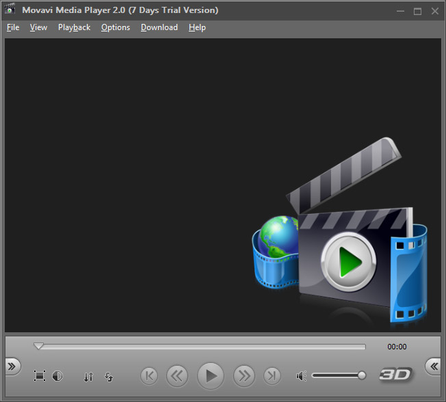 Movavi 3d media player with support for nvidia 3d vision