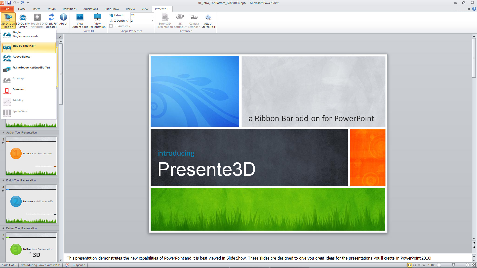 Creating Stereo 3D Presentations in PowerPoint Using Presente3D ...