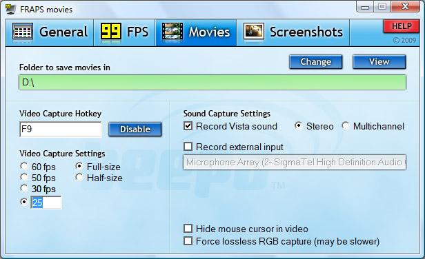 fraps-303-s3d-movies