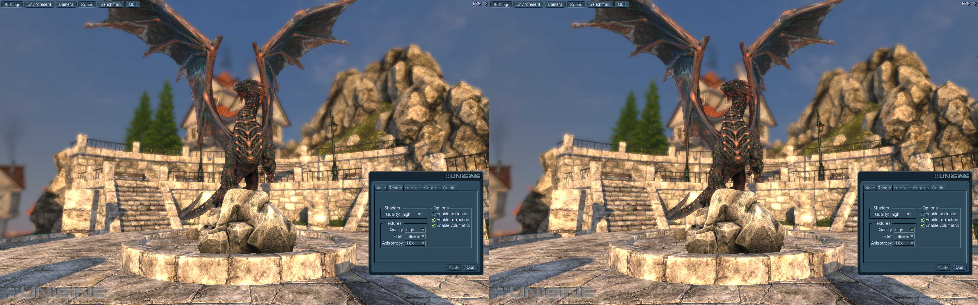 Unigine is a Real-time 3D Engine with Stereoscopic 3D Support - 3D